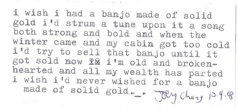 Banjo poem